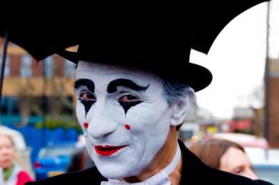Clown at Church Service