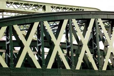 Iron bridge with 4 big x for valentine's day