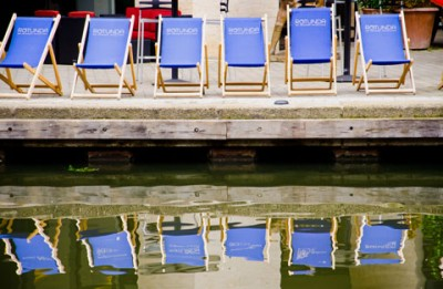 Deck Chairs Canal Kings Cross London