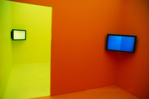 Brazilian artist Cildo Meireles installation of saturated colour at Venice Biennale 2009
