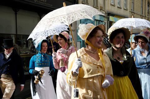 promenaders at the 2011 Jane Austen Festival in Bath